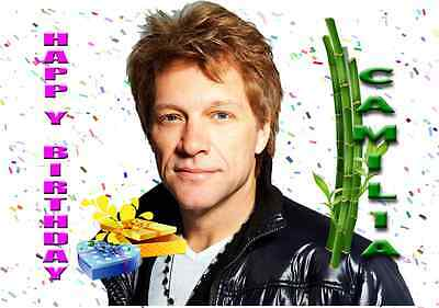 Personalised Jon Bon Jovi Birthday Card 299 PicClick UK – Bon Jovi Birthday Card