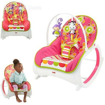 Fisher Price Infant to Toddler Rocker, Kick Stand Baby Rocker, Floral Confetti
