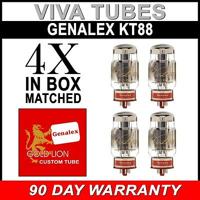 Brand New Matched Quad (4) Genalex Gold Lion Reissue KT88 / 6550 Vacuum Tubes