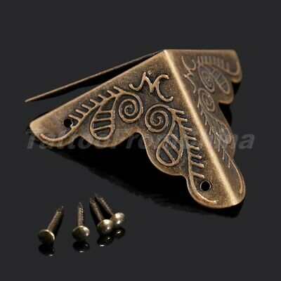 12Pcs Antique Corner Guard Protector for Jewelry Wine Gift Box Wooden Case Chest