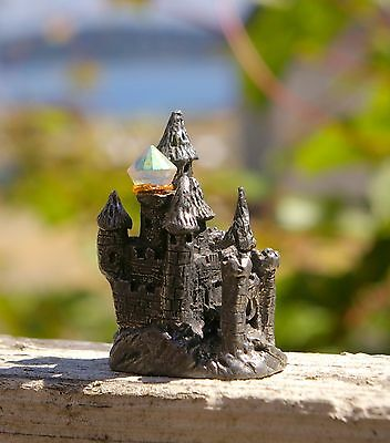 """Pewter Castle 1 3/4"""" Tall Signed SCM F8"""