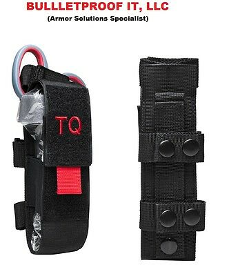 CAT / SOFT-T Tourniquet pouch case holder  Color Black with Red pull tab