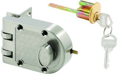 Prime Line Products U 10817 Deadlock, Jimmy Resistant, Single Cylinder Door Lock