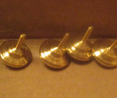 Small Brass Spinning Tops, Handmade, Miniature, Pocket Sized, Nice Finish
