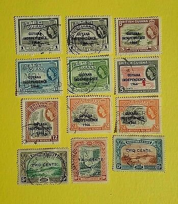 British Guiana Stamps overprints