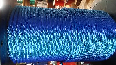 1/4 x 100 ft. Superior double braid~yacht braid polyester rope.Blue.