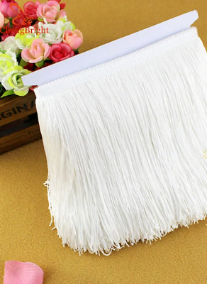 White 15cm Braid Trim Tassel Fringe Lace DIY Craft Clothing Price per 30cm Decor