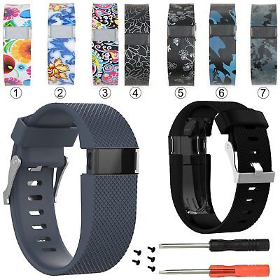 Flower Replacement Wristband Watch Strap Bracelet For Fitbit Charge HR With Tool