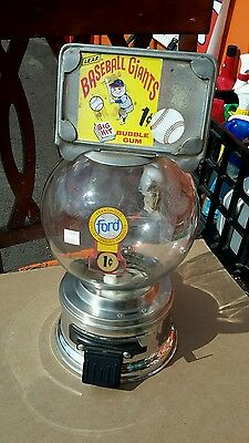 Old Ford Machine 1 Cent Working Glass Globe No Reserve