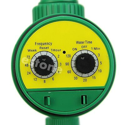 Two Dial Automatic Electronic Water Timer Garden Watering Irrigation Controller