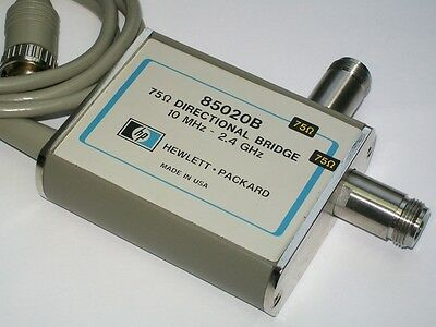 AGILENT HEWLETT PACKARD HP 85020B VSWR directional bridge 10 mhz 2.4 ghz 75 ohm
