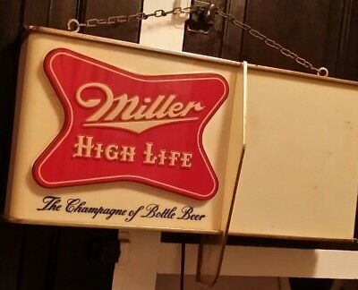 Vintage 1950's Miller High Life Beer, Shark Fin, Advertising Lighted Sign !!!