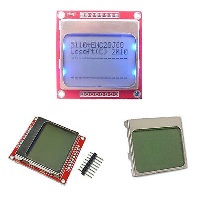 DIY White/Blue 84 * 48 Nokia 5110 LCD Display Screen Module Module for Arduino