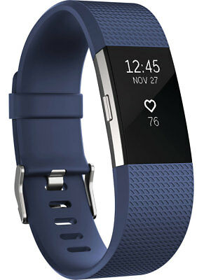 NEW Fitbit - FB407SBUS - Charge 2 Fitness Wristband Blue - Small from Bing Lee