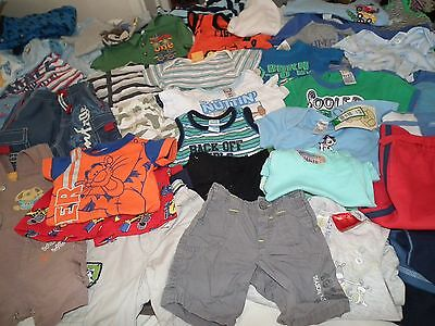 Baby Boy Size 000 BULK CLOTHES-56 ITEMS!! SOME NEW WITH TAGS FREE POST
