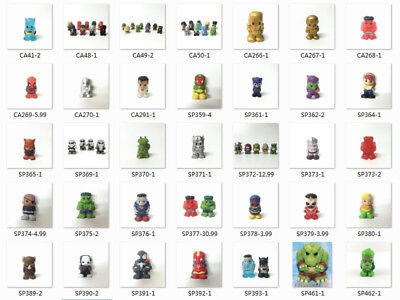 "1.5""Ooshies DC Comics Marvel TMNT GOLDEN FLASH Hulk DAREDEVI Pencil topper Figur"