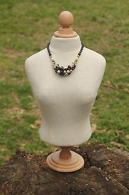 Jewelry Mannequin Holder Organizer bust torso Jewelry Display Calico Mannequin