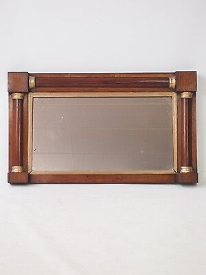 Antique Regency Overmantle Mirror - Georgian Small Overmantel Hall Pier Glass