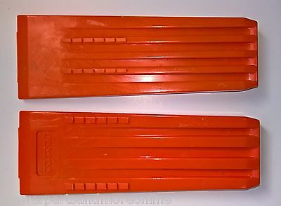 "2 x Archer/ Gascor Chainsaw Wedges - 8"" Hardened Plastic Felling/ Falling Wedge"