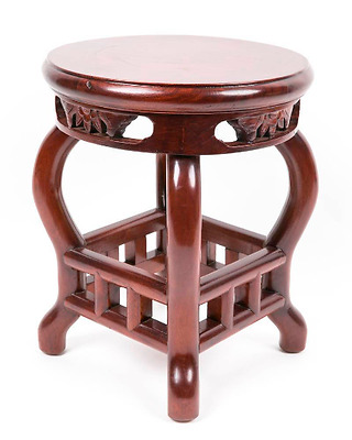 Stool Chinese Furniture Seat Chair Small Sidetable Wood Carvings Oriental Asian