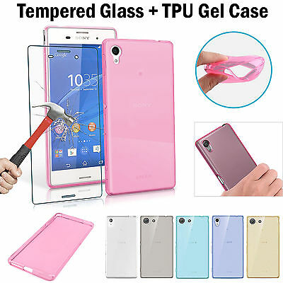 Tempered Glass Armour Screen Protector + Case Cover for Sony Xperia XA1 XA2 XZ2