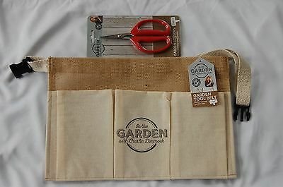 Garden Tool Belt Hessian Pockets Multi Purpose and scissors by Charlie Dimmock