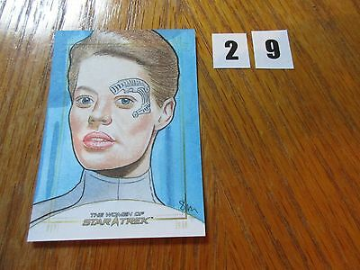 2017 Women of Star Trek 50th Anniversary Shane McCormack Seven of Nine Sketch 29