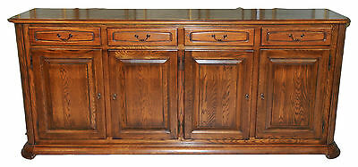 Antique French Country Dining Room Sideboard or Office Credenza Solid Oak