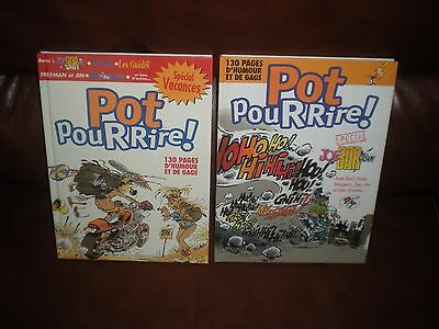 Lot 2 Tomes Pot Pour Rire - Special Joe Bar Team Et Special Vacances 2X130 Pages