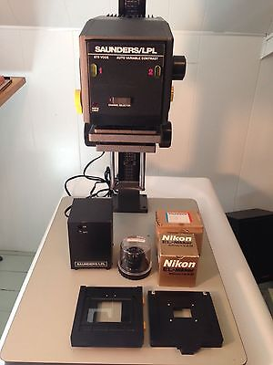Saunders LPL 670 VCCE Enlarger w/Nikkor Lenses & Lots of Darkroom Equipment