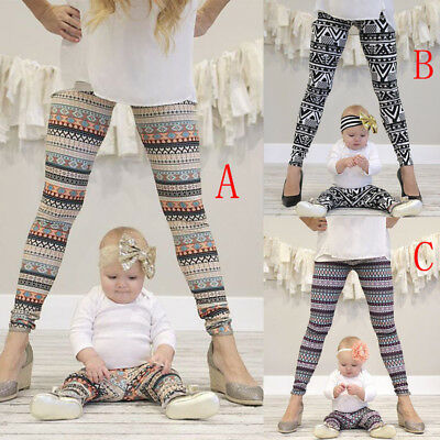Mother and Daughter Parent-child Clothes Baby Girl Pants Family Matching Outfits