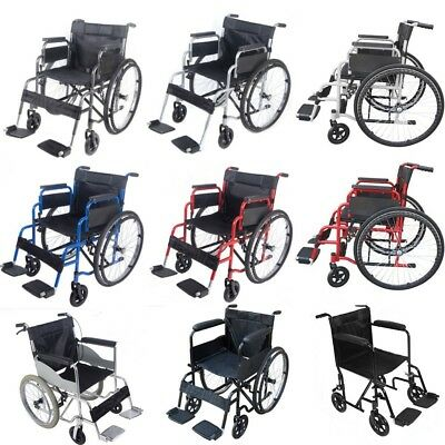 New AID Wheelchair Footrest Self Propell Folding Lightweight Transit Comfort
