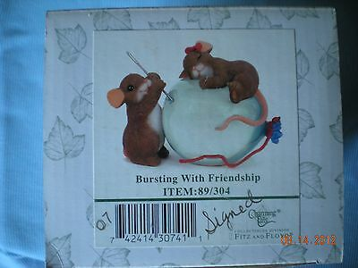 "Charming Tails ""BURSTING WITH FRIENDSHIP"" Figurine,  89/304  SIGNED"