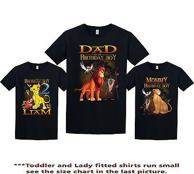 Lion King Birthday Shirt Custom Personalized T Add Any NAME And AGE