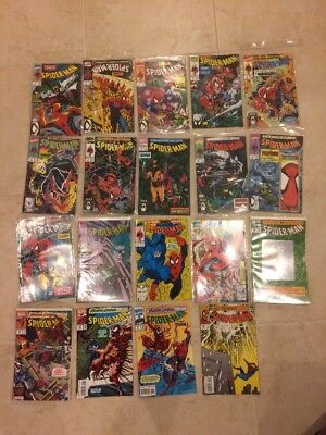 Lot of 19 Spider-Man Marvel Comics Issues #2-40 1990 Todd McFarlane Good