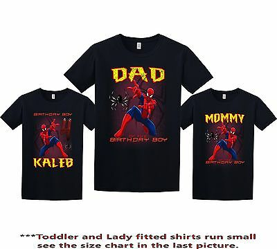 d2bde7320 SpiderMan Birthday Shirt custom personalized t-shirt add any NAME and AGE