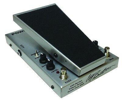 New Morley PFW-C Chrome Cliff Burton Tribute Series Power Fuzz Wah Pedal