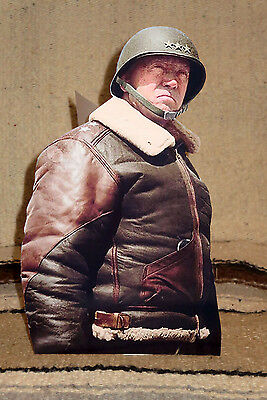 GENERAL GEORGE PATTON World War 2 Figure Color Tabletop Display Standee  9 5