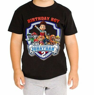 Paw Patrol Shirt Personalized Name And Age Birthday P2