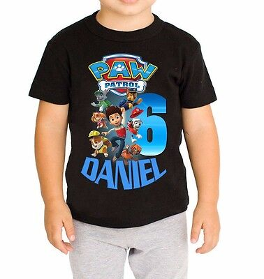 Paw Patrol Shirt Personalized Name and Age Birthday Shirt p1