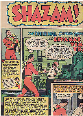 SHAZAM! LIMITED COLLECTORS EDITION No.C21: CAPTAIN MARVEL: 1973: Coverless