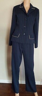 Ultra Dress Women S Pant Suit Gorgeous And Classy Striped Navy Blue