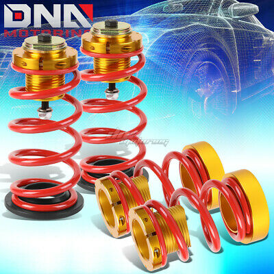 """For 06-11 Civic 1""""-4"""" Adjustable Suspension Coilover Sleeve Kit W/red Spring"""