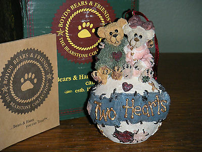 Boyds Bears Bearstone Ornament  ~PE  GEORGE & GRACIE FOREVER~  QVC EXCLUSIVE