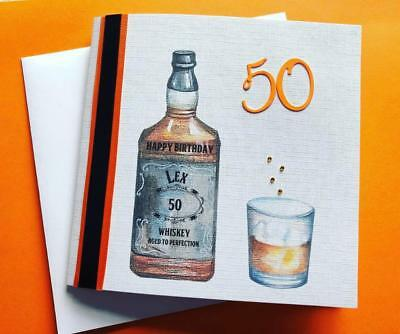 Personalised Jack Daniels Birthday Card 18 21 25 30 40 45 50 60 70