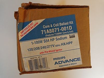 Philips Advance Core & Coil Ballast Kit 71A8071-001D 120/208/240/277v 1-100W S54