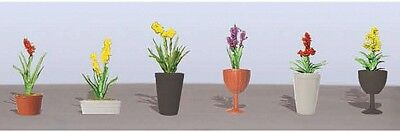 """JTT Scenery Products-Flowering Potted Plants Assortment 2, 7/8"""" (6)"""