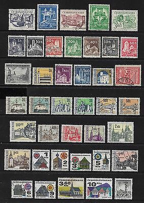 CZECHOSLOVAKIA - mixed collection No.28, incl Castles, Towns, Buildings
