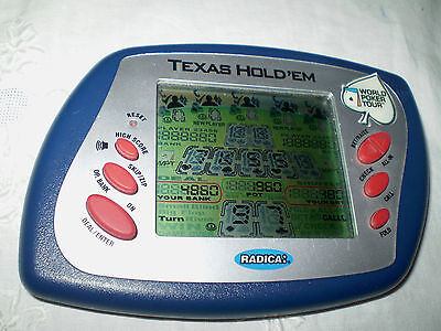 As New Radica Texas Hold'em Hand Held Electronic Poker Game