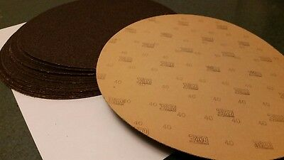 "Qty 15+ 12"" 1 Ft 3M Sanding Round Sheet 40 Grit Industrial Abrasives"